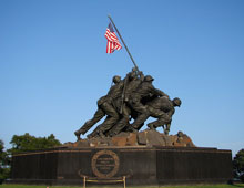 View of the Iwo Jima Memorial